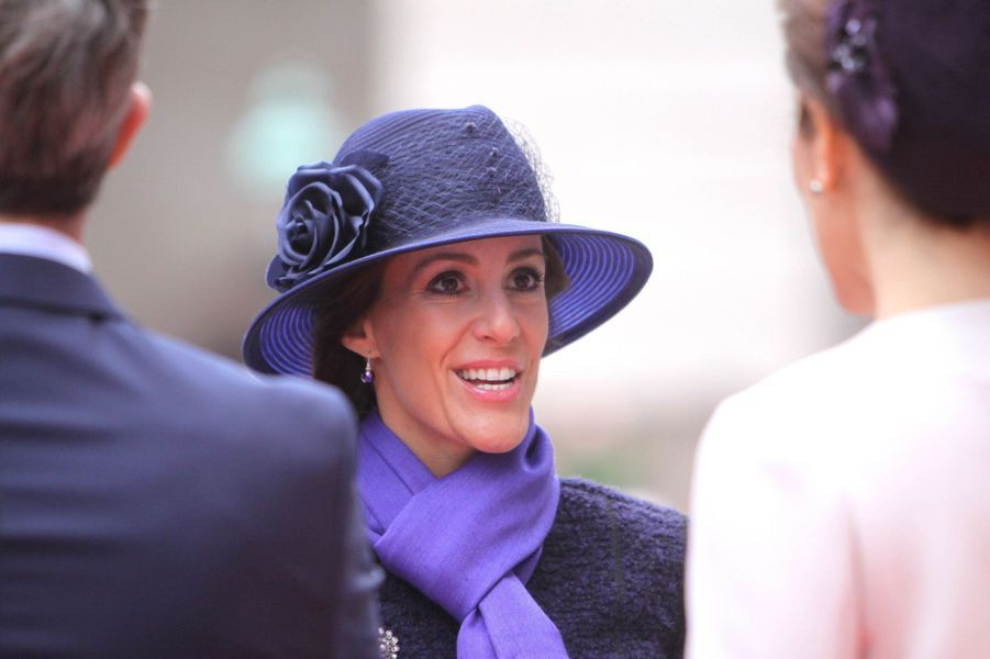 La princesse Marie de Danemark au Parlement à Copenhague, le 7 octobre 2014