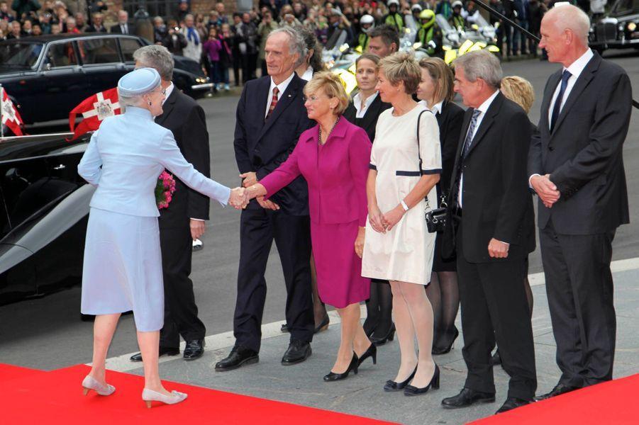La reine Margrethe de Danemark au Parlement à Copenhague, le 7 octobre 2014