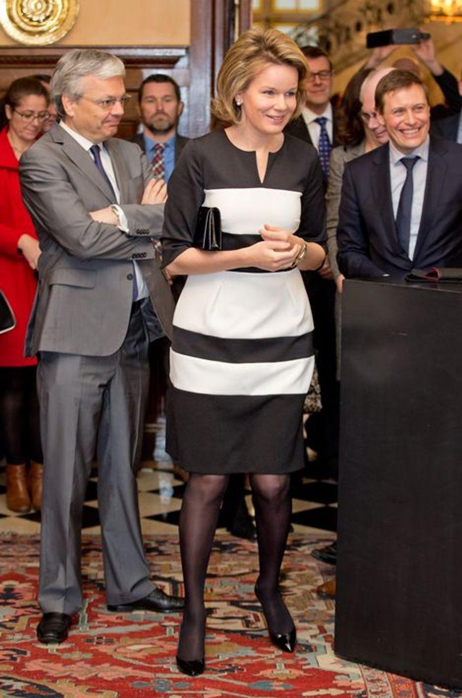 La reine Mathilde à la remise des Belgian Beauties Awards à Auderghem, le 13 janvier 2015
