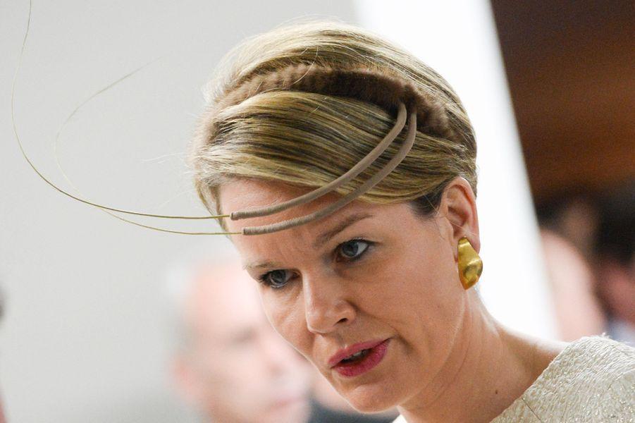 La reine Mathilde de Belgique à Mons, le 24 janvier 2015