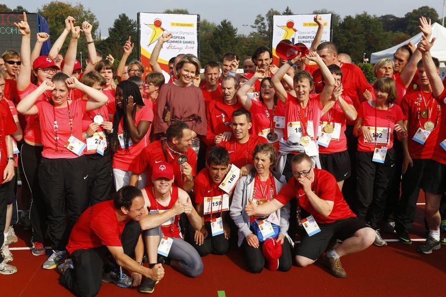 Mathilde crée la surprise aux Special Olympics