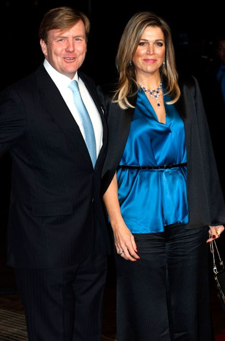 Le roi Willem-Alexander des Pays-Bas et la reine Maxima au théâtre Beatrix d'Utrecht, le 8 décembre 2014