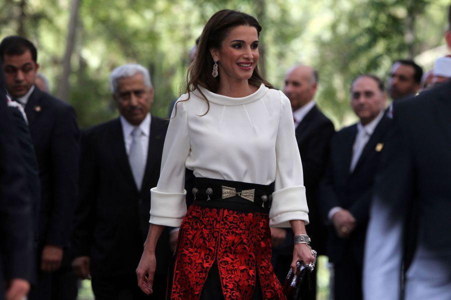 La reine Rania de Jordanie à Amman, le 25 mai 2015