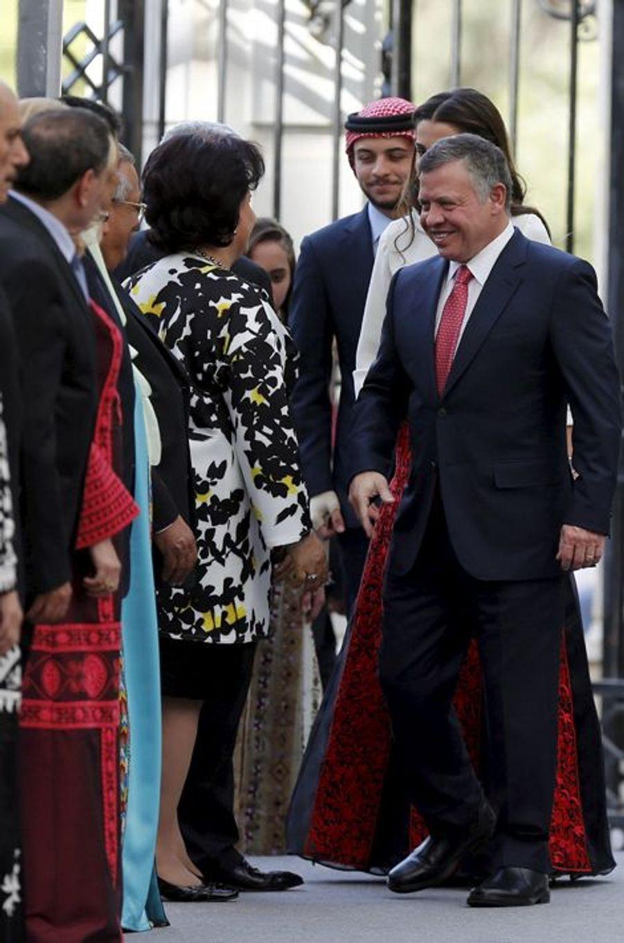 Le roi Abdallah II de Jordanie à Amman, le 25 mai 2015