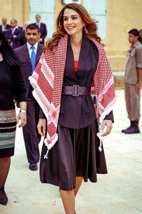 La reine Rania de Jordanie à Salt, le 4 novembre 2014