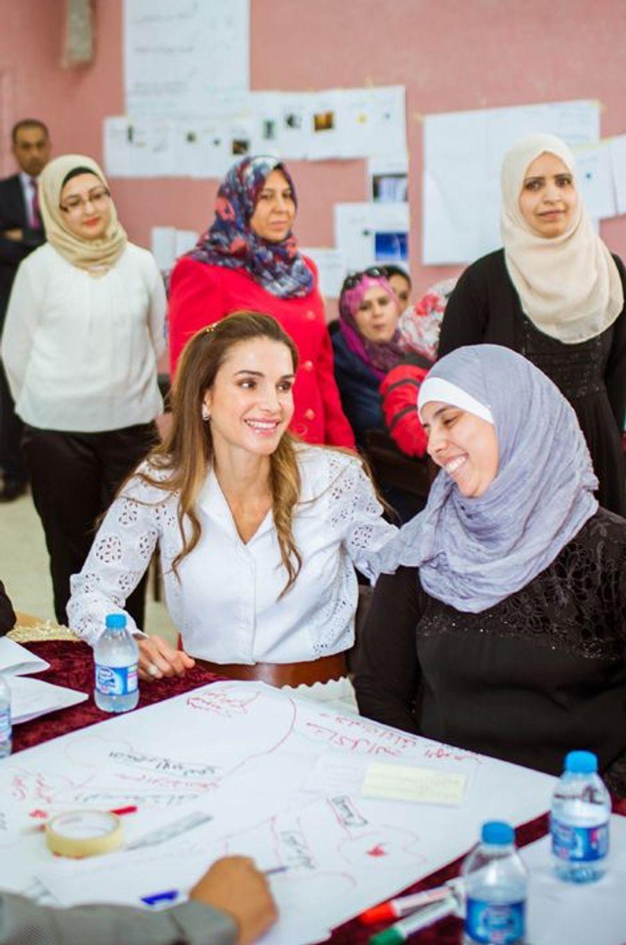 La reine Rania de Jordanie à Amman, le 4 août 2015