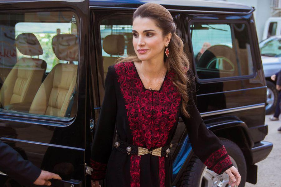 La reine Rania de Jordanie à Allan, le 2 décembre 2015
