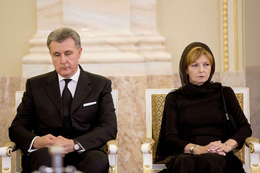 La princesse Margareta et son mari le prince Radu au palais royal de Bucarest, le 12 août 2016