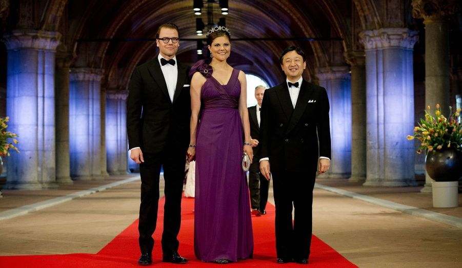 Victoria et Daniel de Suède et le prince Naruhito du Japon