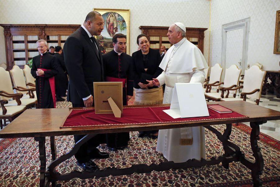 Le pape François a rencontré le roi Tupou VI du Tonga