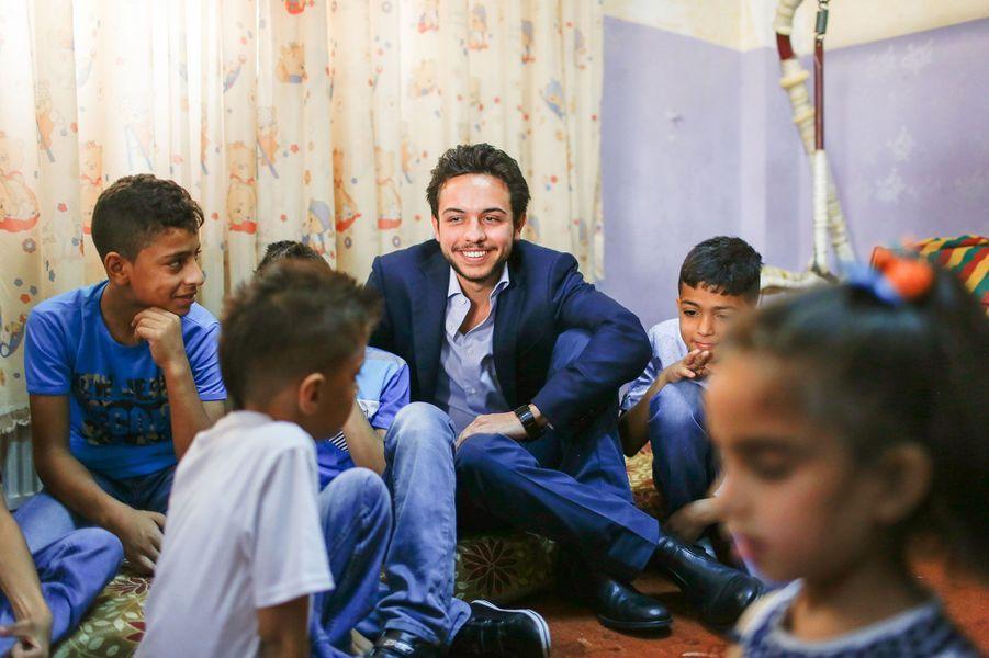 Le prince Hussein Ben Abdallah de Jordanie à Zarqa, le 28 juin 2015