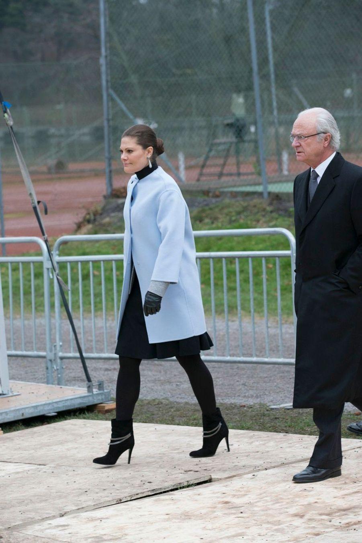 Carl XVI Gustaf et Victoria, roi et future reine réunis