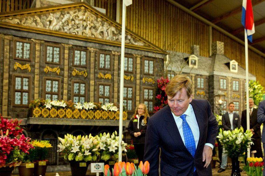Le roi Willem-Alexander des Pays-Bas inaugure le 35ème Breezand Spring Garden, le 4 mars 2015