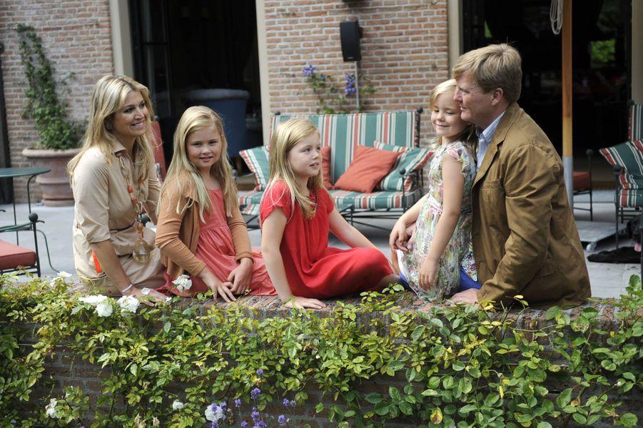 La famille des Pays-Bas à Wassenaar