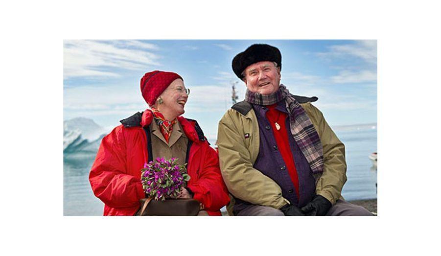 La reine Margrethe II et le prince Henrik de Danemark ont choisi une photo prise il y a peu au Groenland pour illustrer leur carte de voeux.