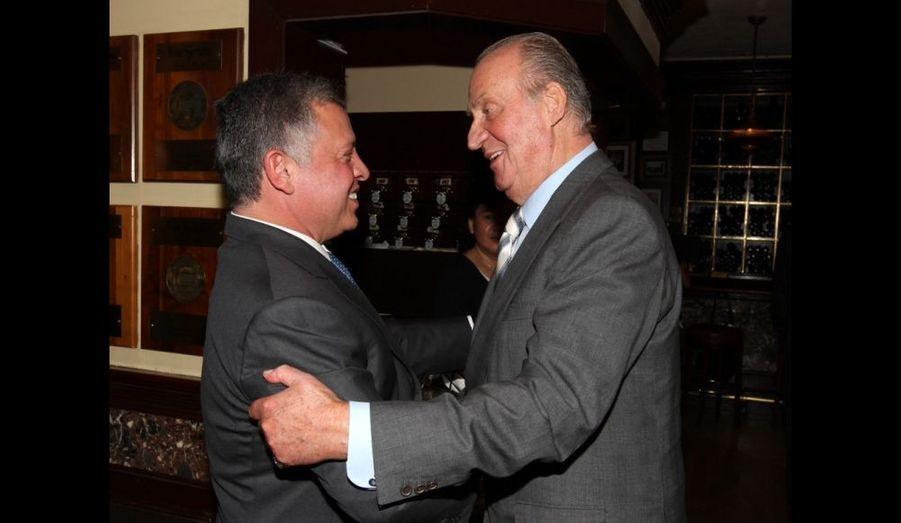 Abdallah II de Jordanie et Juan Carlos d'Espagne