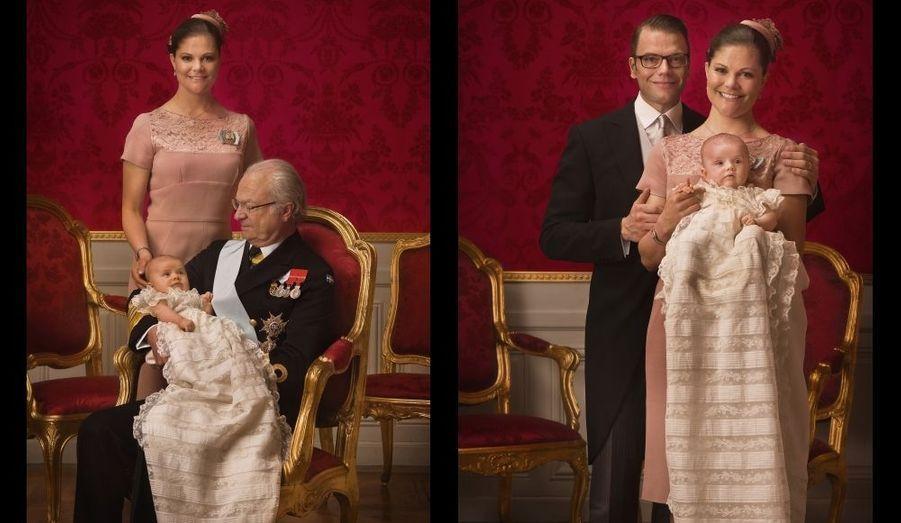 Estelle, Victoria, Carl XVI Gustaf et Daniel