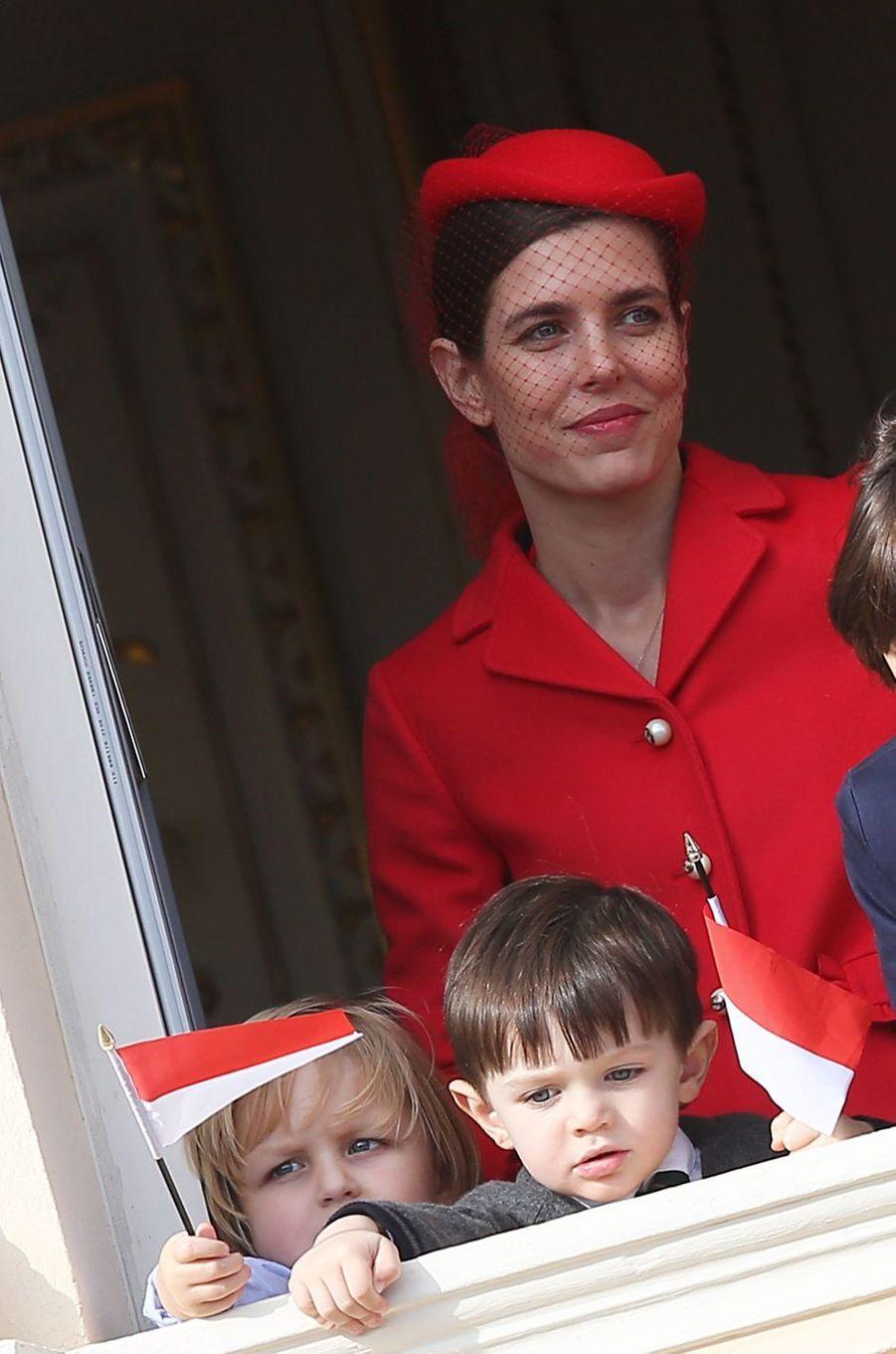 La plus inattendue- Première apparition publique pour Raphaël, le fils de Charlotte Casiraghi et Gad Elmaleh ce samedi 19 novembre, à l'occasion de la Fête nationale monégasque.