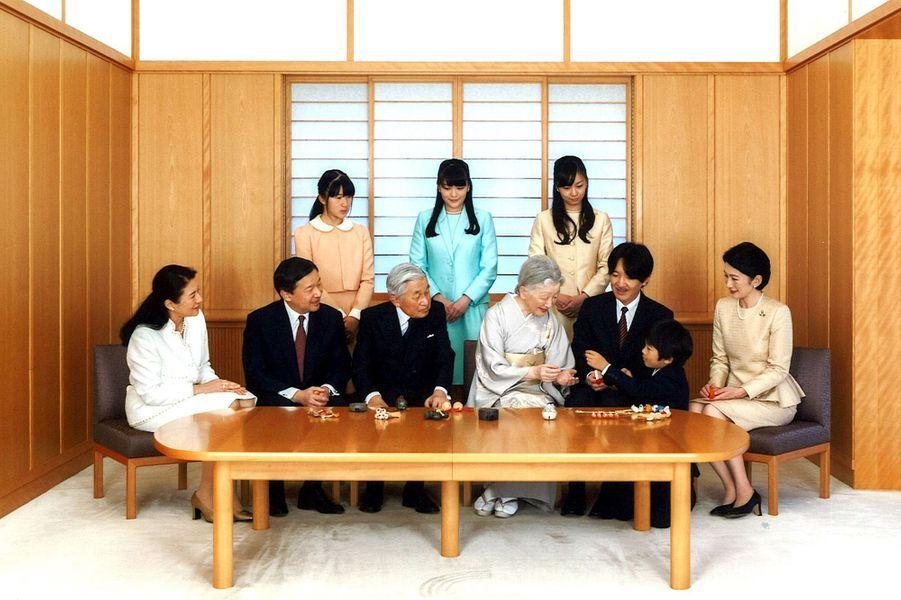 La famille impériale du Japon au Palais royal à Tokyo, le 15 novembre 2015