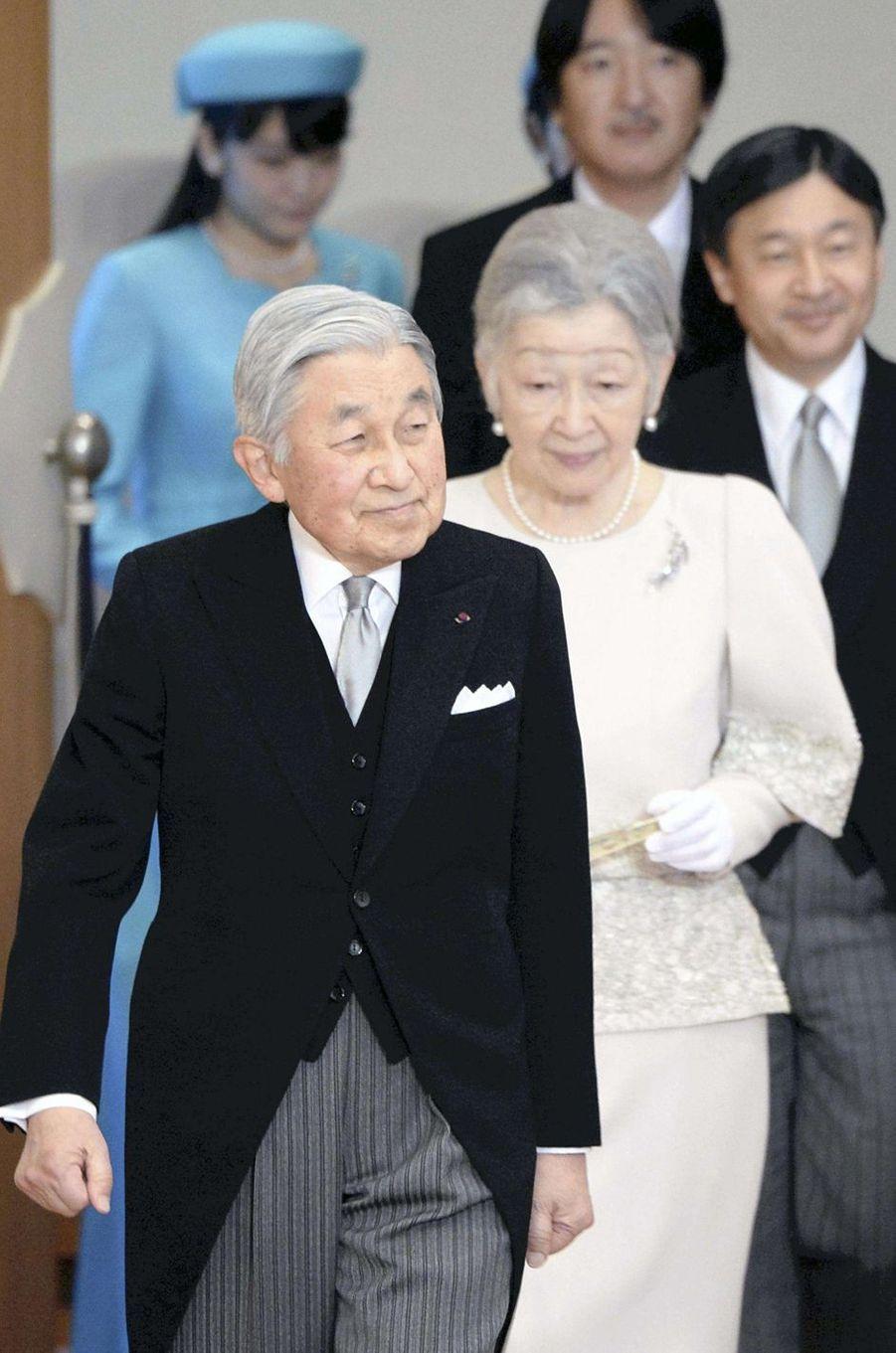 La famille impériale du Japon à Tokyo, le 11 janvier 2017