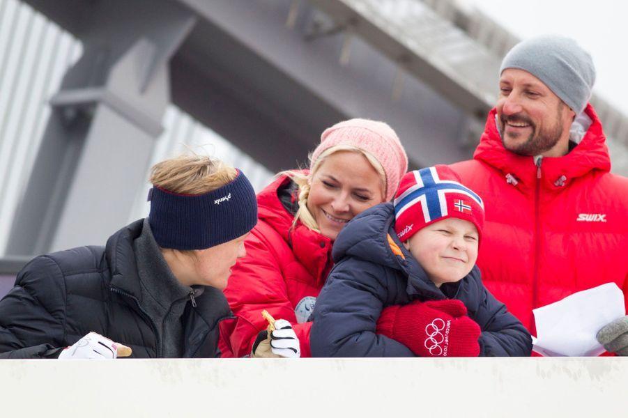 Sverre Magnus, Marius, Mette-Marit et Haakon