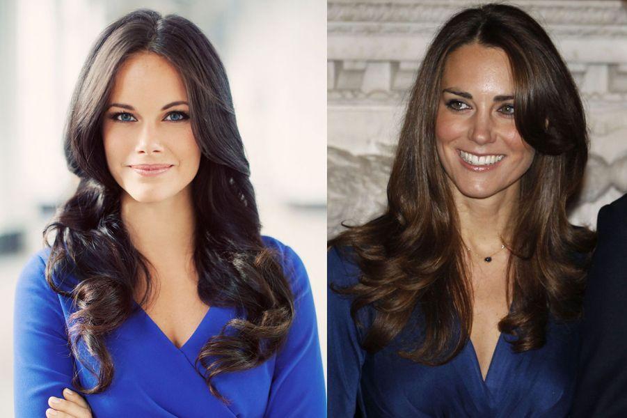 La photo officielle de Sofia Hellqvist, et une photo de Kate Middleton à ses fiançailles