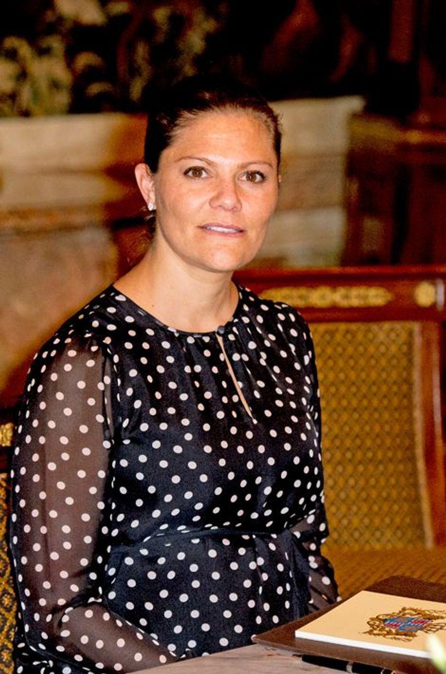 La princesse Victoria de Suède à Luxembourg, le 15 octobre 2015
