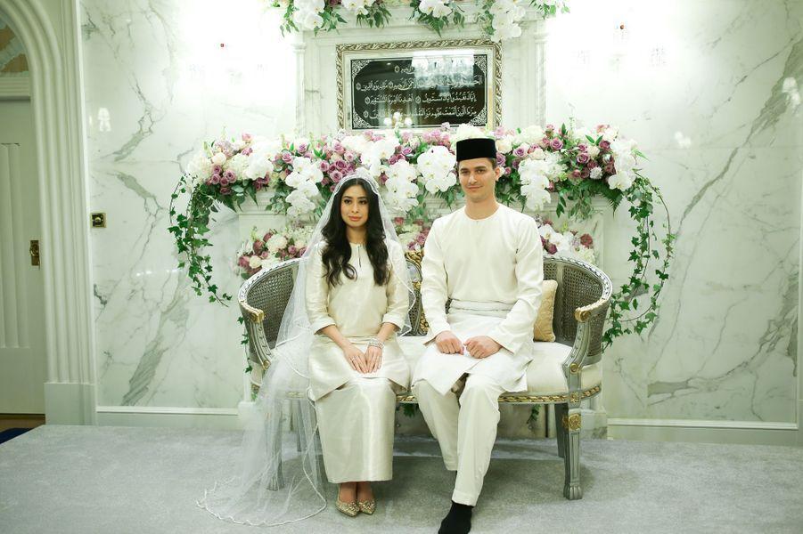 Au mariage de la princesse Tunku Tun Aminah Sultan Ibrahim et du Néerlandais Dennis Muhammad Abdullah à Johor Bahru, le 14 août 2017