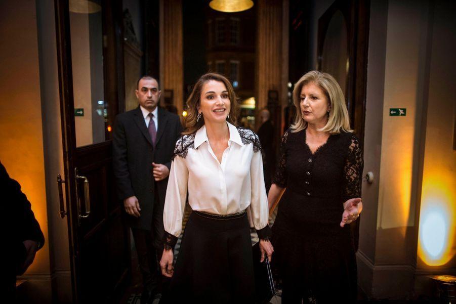 La reine Rania de Jordanie lors de la conférence organisée par Arianna Huffington, le 5 mars 2015