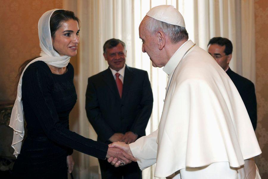 Rania et Abdallah reçus par le pape François