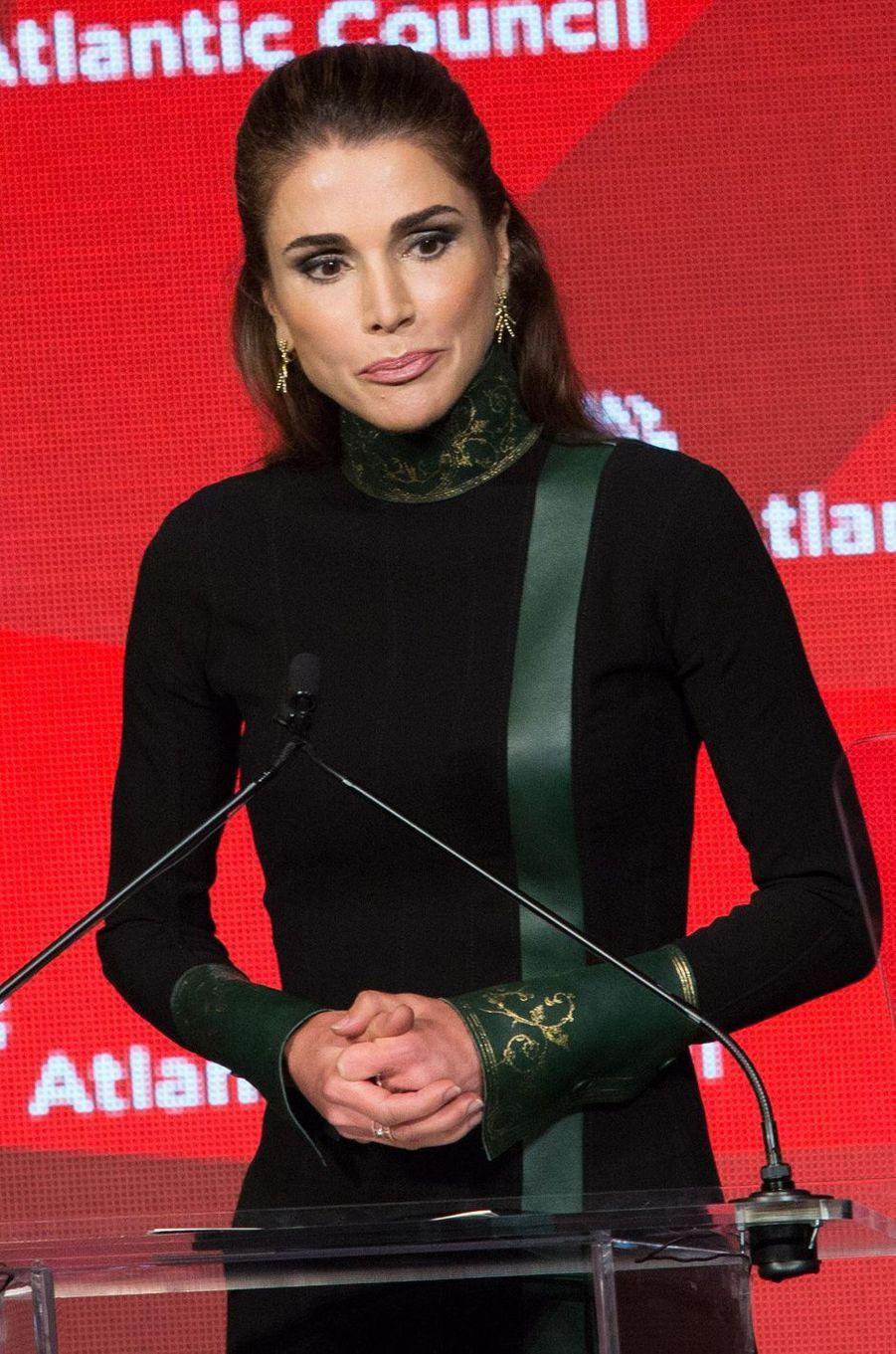 La reine Rania de Jordanie à la remise des prix d'Atlantic Council à New York, le 19 septembre 2017