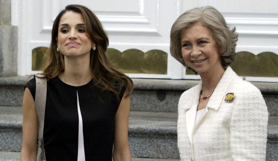 Avec la Reine Sofia d'Espagne en 2003