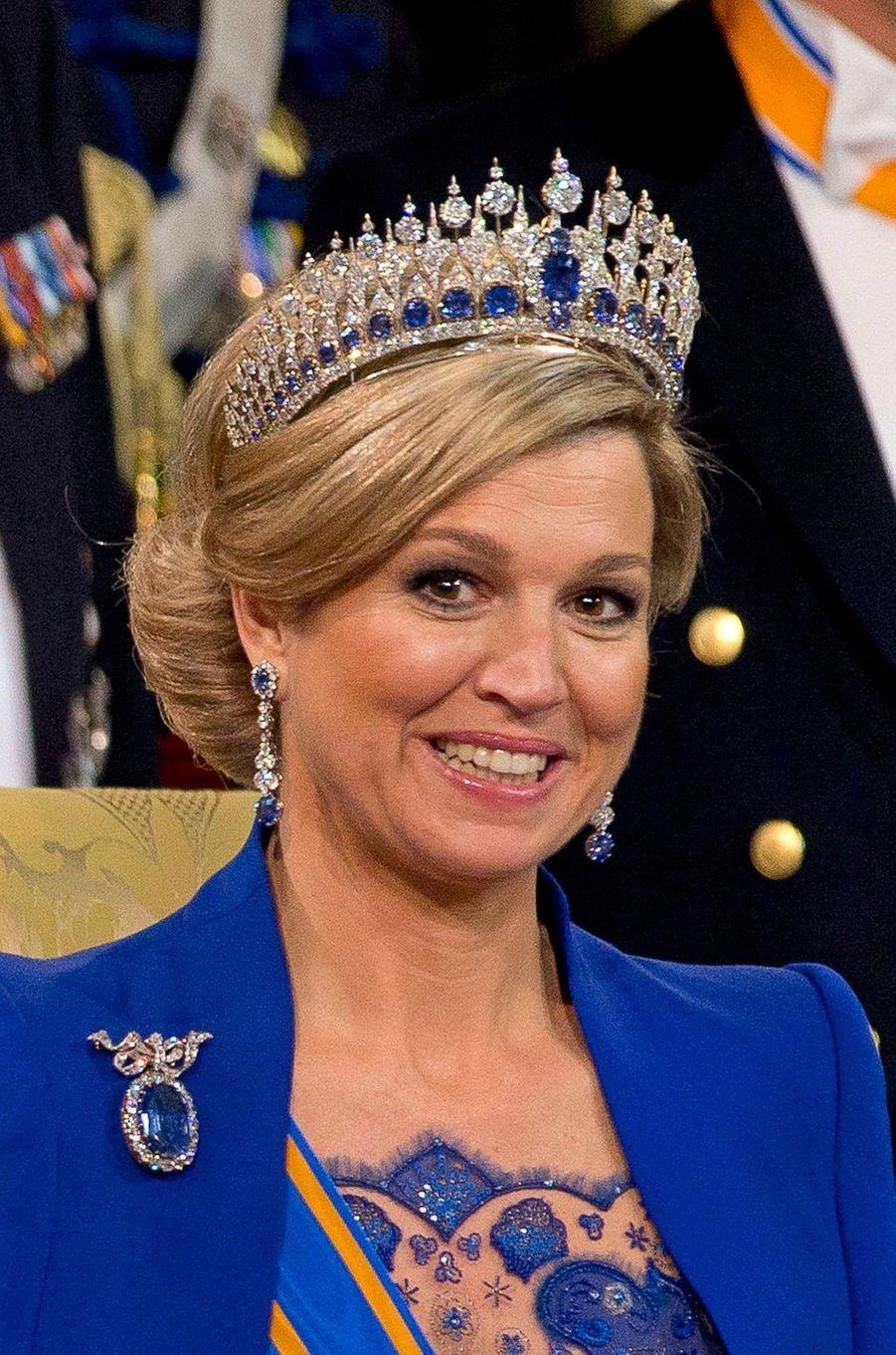 La reine Maxima des Pays-Bas, le 30 avril 2013