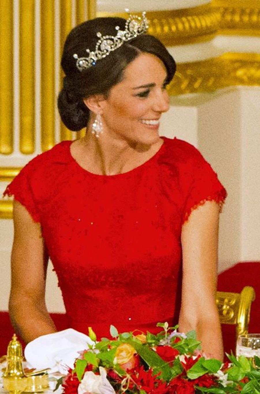 La duchesse de Cambridge avec la tiare Papyrus