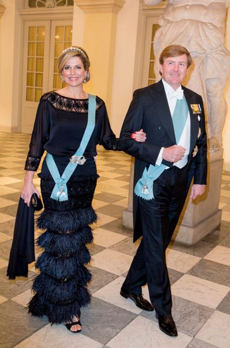 La reine Maxima et le roi Willem-Alexander des Pays-Bas à Copenhague, le 15 avril 2015
