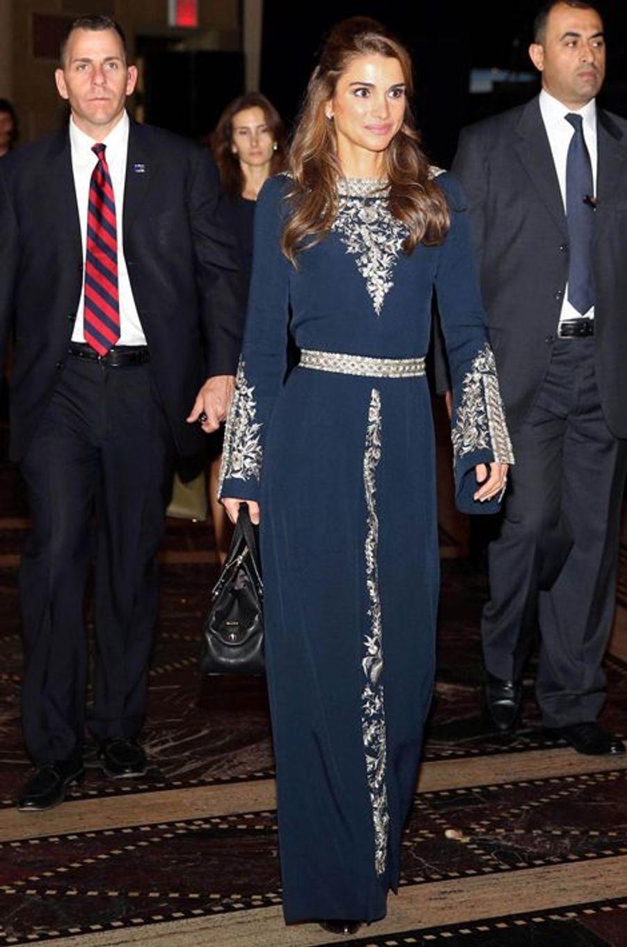 La reine Rania de Jordanie, le 8 novembre 2013