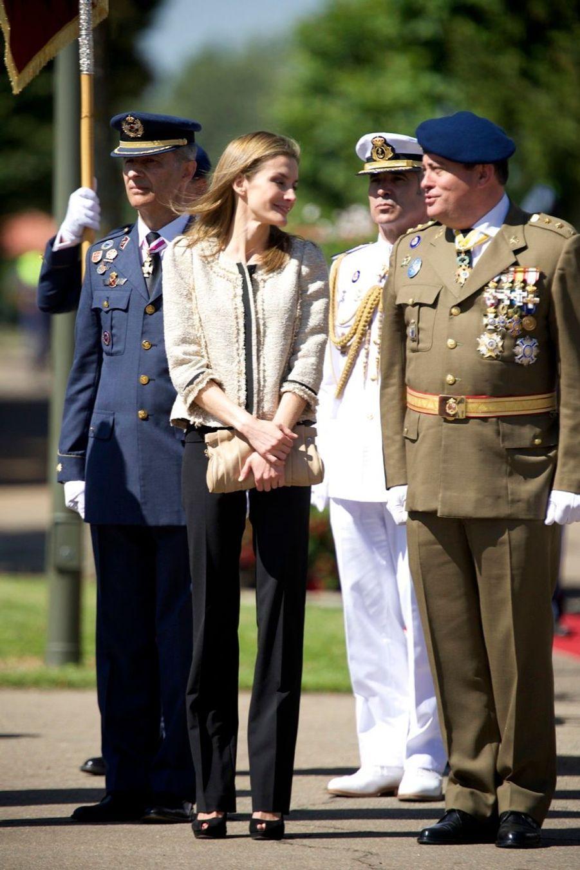 Letizia & Felipe à l'Académie des top gun