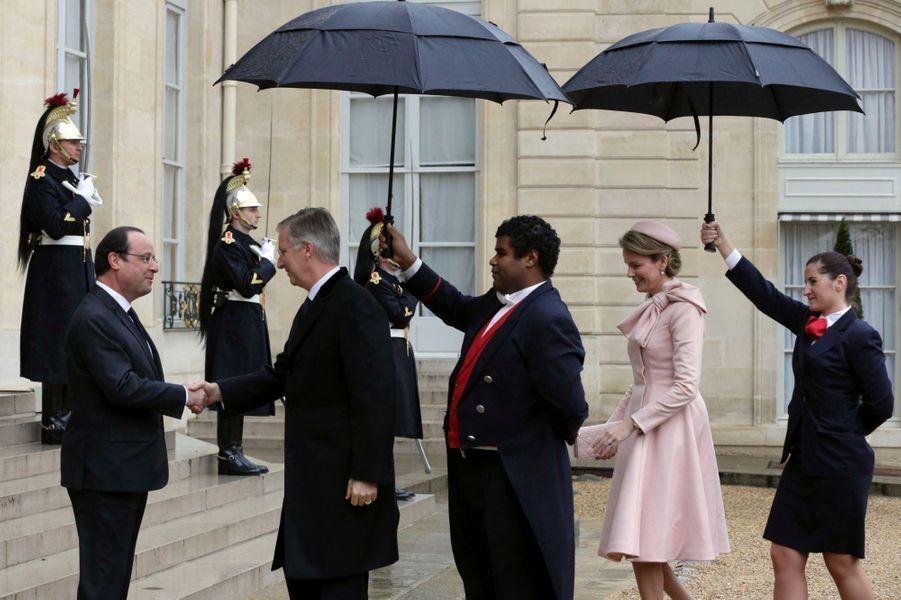 Mathilde et Philippe de Belgique en visite en France
