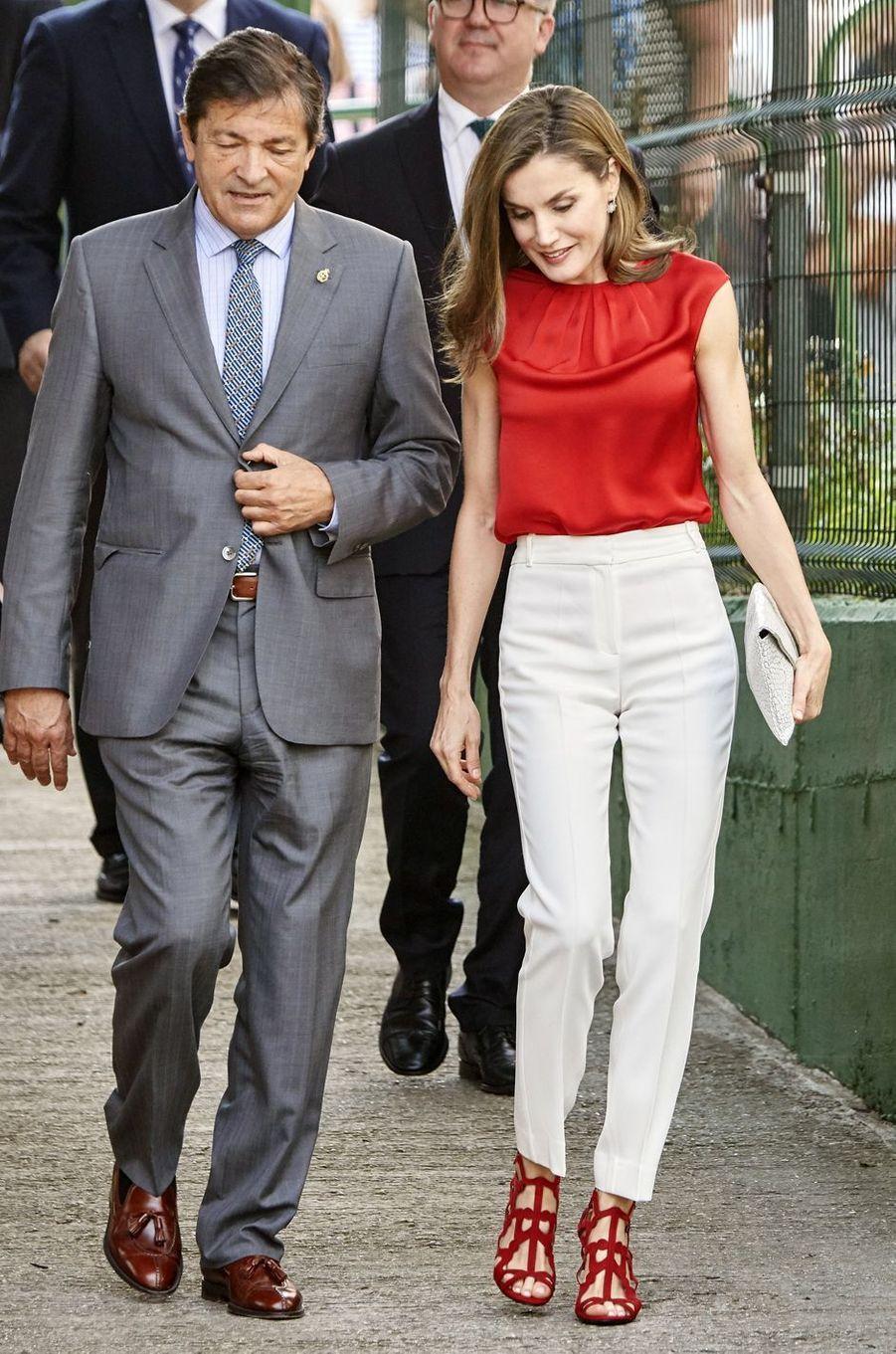 La reine Letizia d'Espagne, le 20 juin 2017