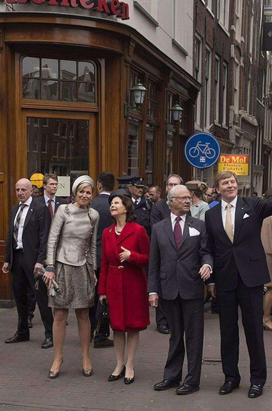 Silvia et Carl Gustaf, invités d'honneur de Maxima et Willem