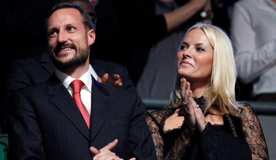 Haakon et Mette-Marit au concert