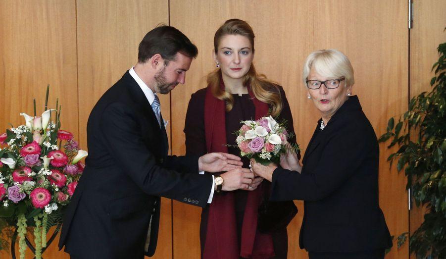 Avec la ministre luxembourgeoise de la Famille, Marie-Josée Jacobs