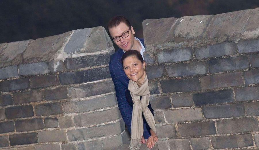 Amoureux sur la Grande Muraille de Chine