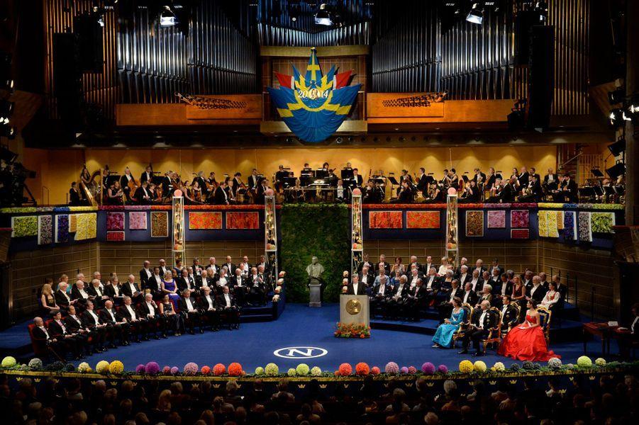 La cérémonie de remise des prix Nobel à Stockholm, le 10 décembre 2014