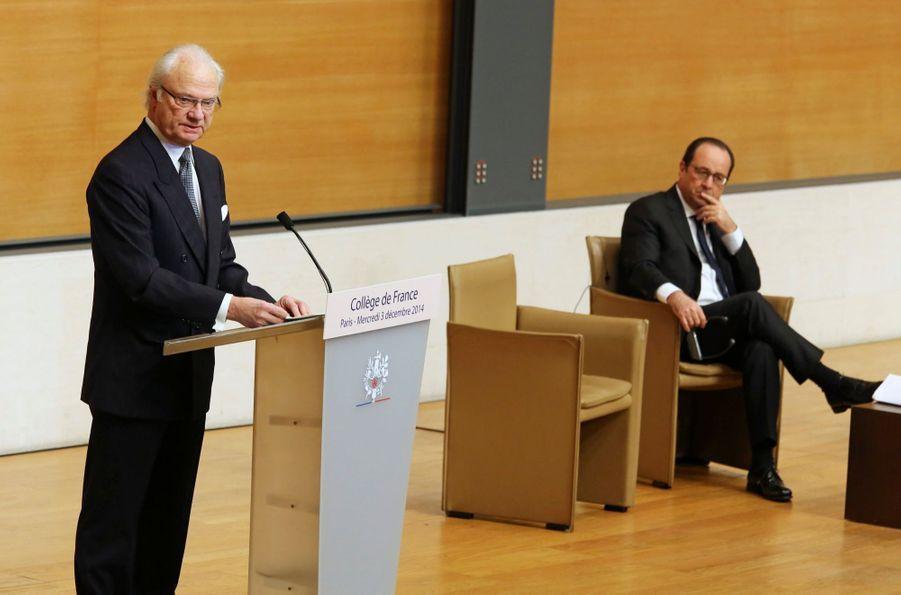 Carl XVI Gustaf à Paris, un second jour sans Silvia