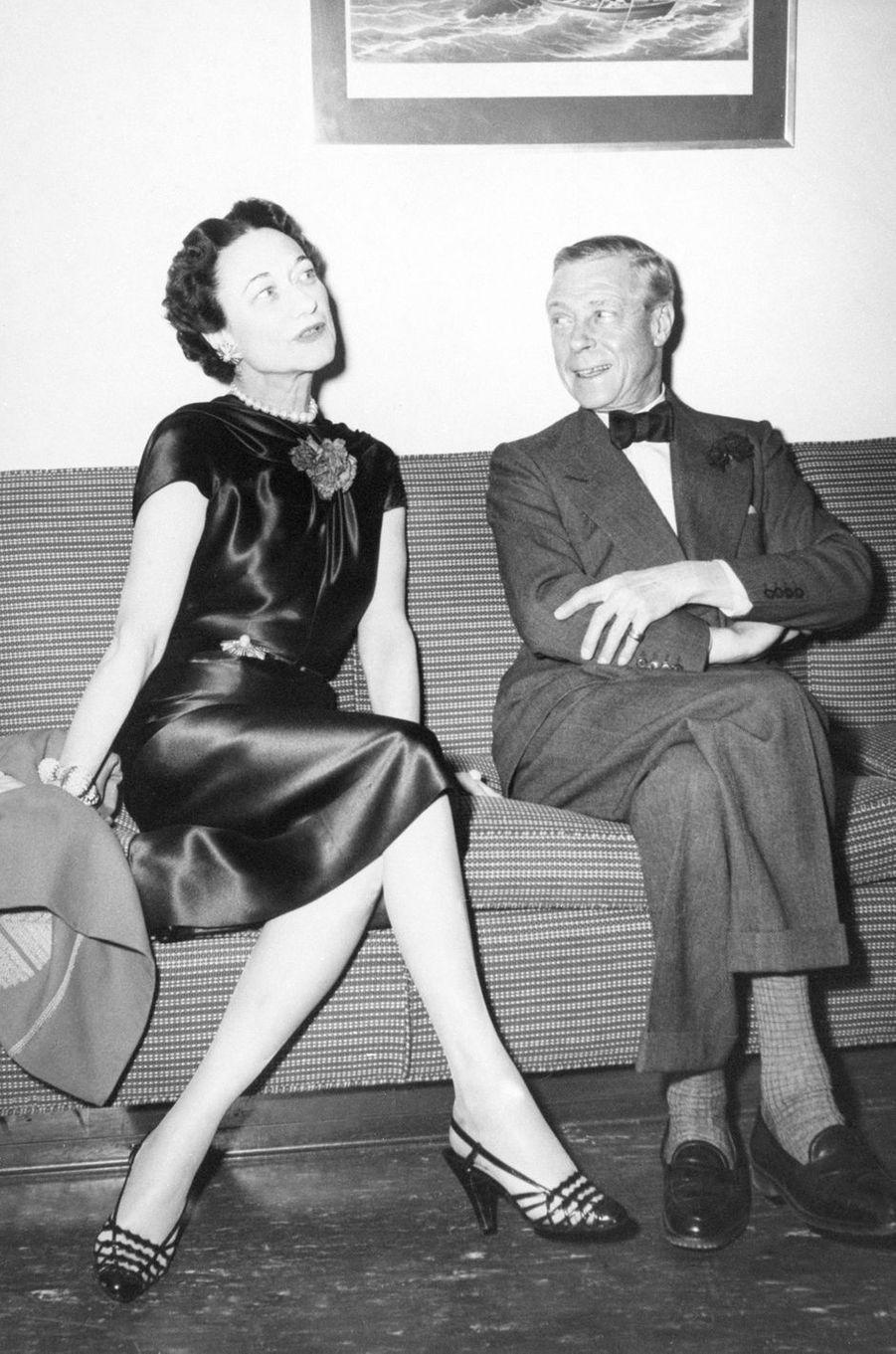 Wallis Simpson et l'ex-roi Edward VIII d'Angleterre, le 11 décembre 1954