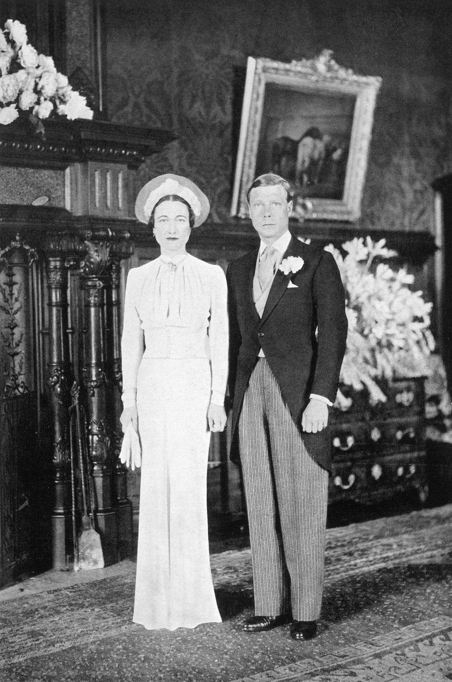 Le mariage de Wallis Simpson et de l'ex-roi Edward VIII d'Angleterre, le 3 juin 1937