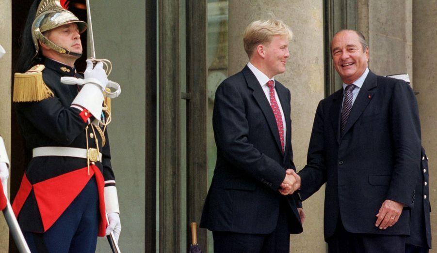 Willem-Alexander avec Jacques Chirac en 1998