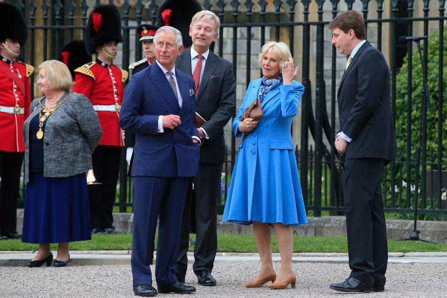 Le prince Charles et la duchesse de Cornouailles Camilla à Windsor, le 21 avril 2016
