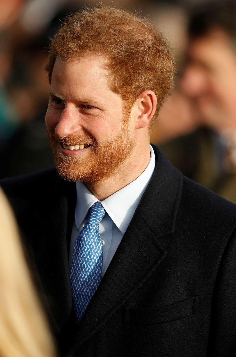 Le prince Harry à Sandringham, le 25 décembre 2016
